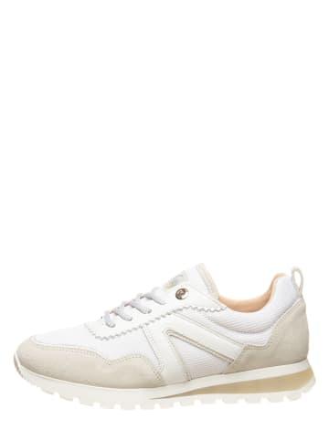 """SALAMANDER Skórzane sneakersy """"Tilani"""" w kolorze biało-jasnoszarym"""