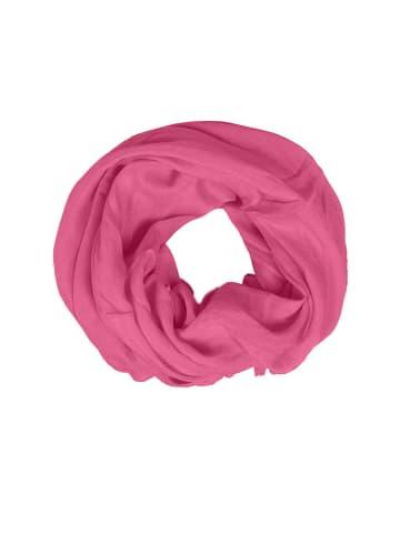 "Zwillingsherz Loopschal ""Uni"" in Pink - (L)74 x (B)68 cm"