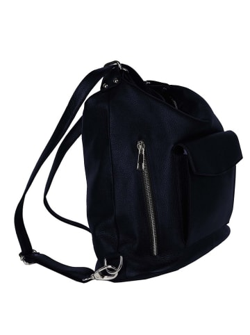 """Zwillingsherz Skórzana torebka """"Zipper"""" w kolorze czarnym - 25 x 45 cm"""