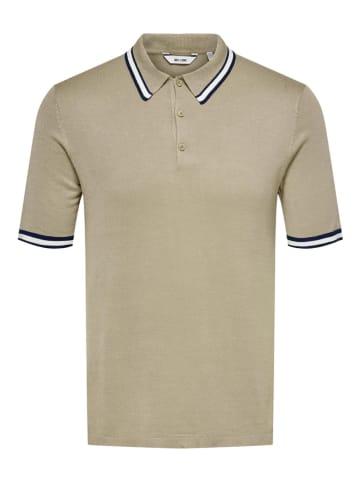 """ONLY & SONS Poloshirt """"Adam"""" beige"""