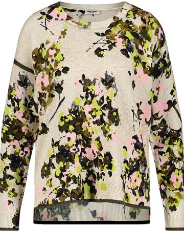 Gerry Weber Sweter w kolorze beżowo-oliwkowym