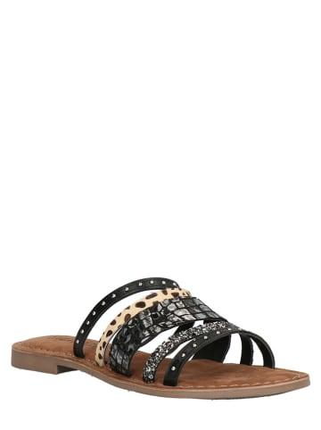 Lazamani Slippers zwart/beige