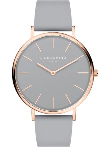 Liebeskind Zegarek kwarcowy w kolorze szaro-różowozłotym