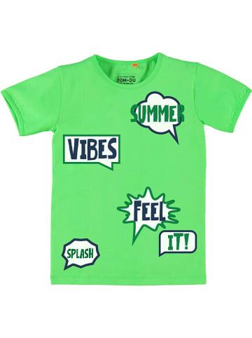 """Tom-Du Koszulka """"Goya"""" w kolorze zielonym"""