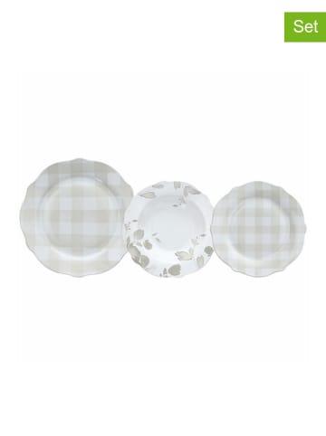 Tognana 18-delige set: borden wit/beige