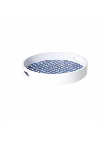 Tognana Tablett in Weiß/ Blau - (H)5 x Ø 30 cm