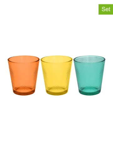 Tognana 3er-Set: Gläser in Bunt - 340 ml