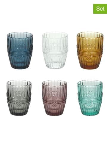 Tognana 6-delige set: glazen meerkleurig - 280 ml