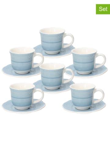 Tognana 6-delige set: koppen blauw - 300 ml
