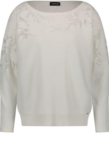 TAIFUN Sweter w kolorze kremowym