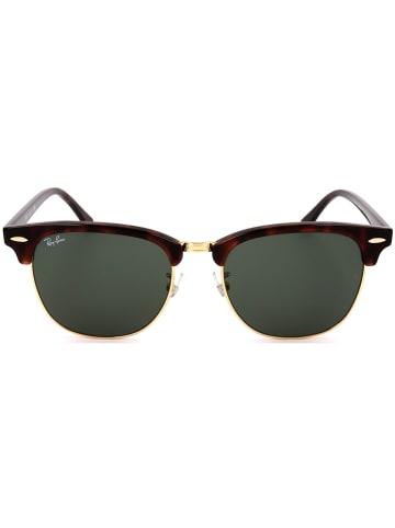 Ray Ban Herenzonnebril bruin-goudkleurig/groen
