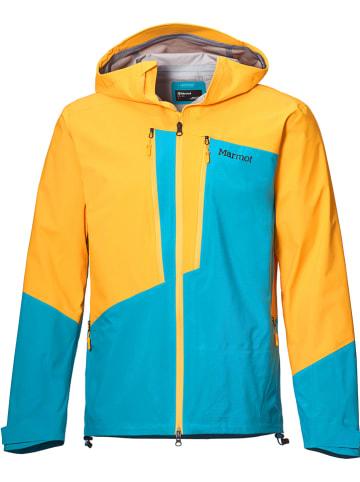 """Marmot Kurtka funkcyjna """"Huntley"""" w kolorze niebiesko-żółtym"""