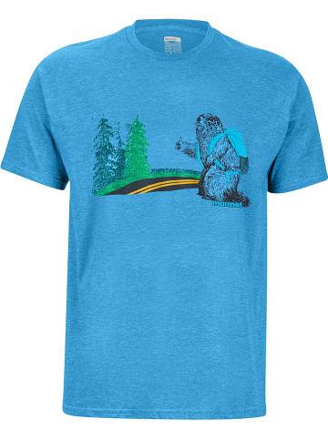 """Marmot Koszulka """"Trek"""" w kolorze niebieskim"""