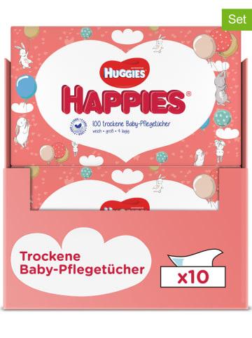 """HUGGIES-DryNites Chusteczki pielęgnacyjne (500 szt.) """"Happies"""" - 5 x 100 szt."""