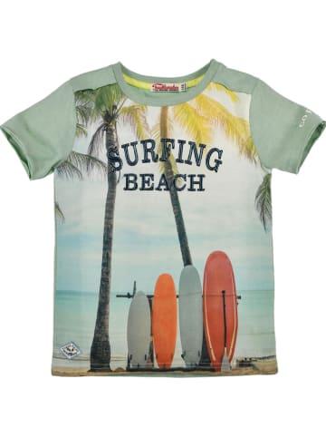 "Bondi Shirt ""Surfing Peach"" groen"