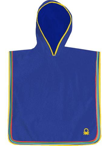 Benetton Ręcznik w kolorze niebieskim z kapturem