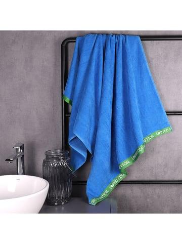 Benetton Ręcznik plażowy w kolorze niebieskim - 160 x 90 cm