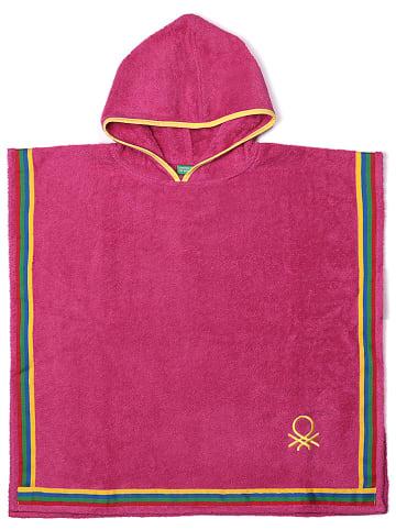 Benetton Ręcznik w kolorze różowym z kapturem