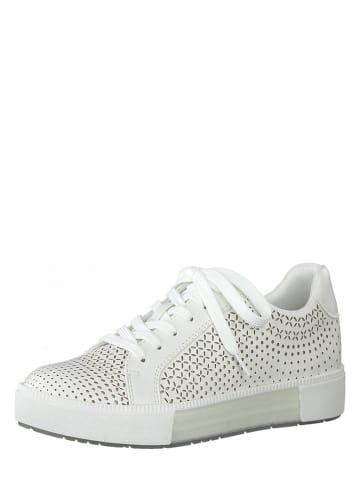 Marco Tozzi Sneakersy w kolorze białym
