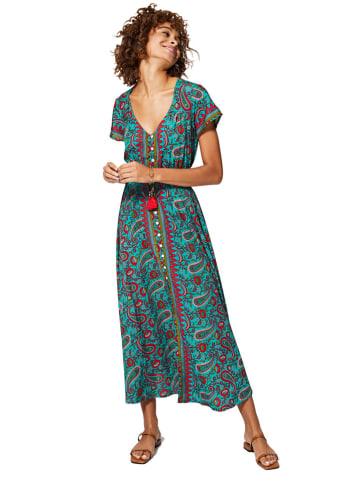 Ipanima Sukienka w kolorze turkusowo-czerwonym