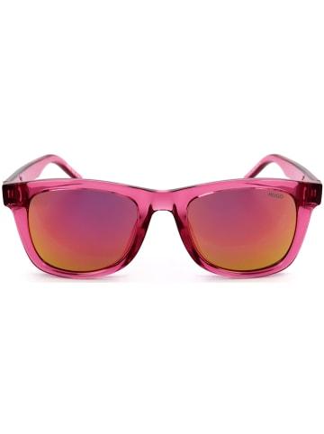Hugo Boss Męskie okulary przeciwsłoneczne w kolorze różowo-pomarańczowym