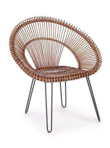 Bizzotto Krzesło w kolorze brązowo-czarnym - (S)83 x (W)89 x (G)64 cm