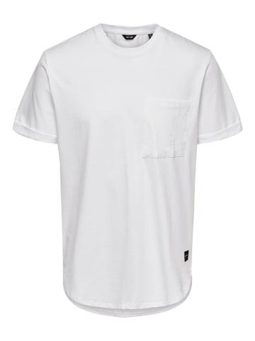 """ONLY & SONS Koszulka """"Gavin"""" w kolorze białym"""