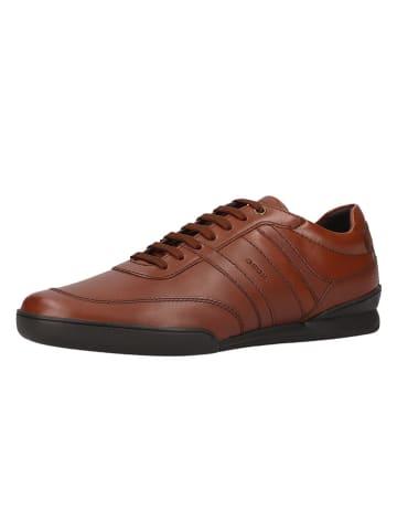 Geox Skórzane sneakersy w kolorze jasnobrązowym