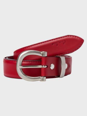 Cross Jeans Leren riem rood - (B)3 cm