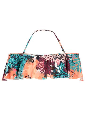 "Vince Camuto Bikinitop ""Lagoon Floral"" turquoise/rood"