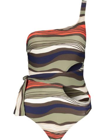 "Vince Camuto Badpak ""Tidal Stripe"" kaki/rood/beige"