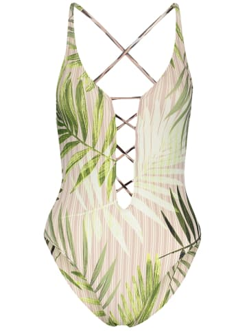 "Vince Camuto Badpak ""Tropical Palm"" beige/groen"