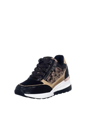Laura Biagiotti Sneakersy w kolorze czarno-złotym