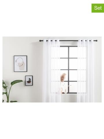 Lifa Living 2er-Set: Ösenvorhänge in Weiß