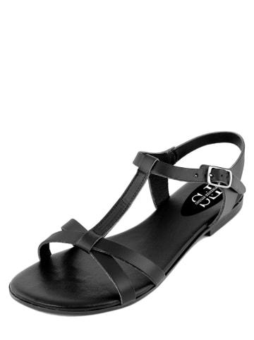 FS Firenze Studio Skórzane sandały w kolorze czarnym
