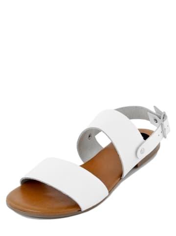 FS Firenze Studio Skórzane sandały w kolorze białym