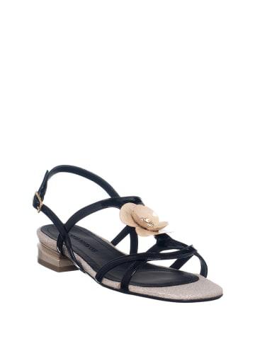 Loretta Skórzane sandały w kolorze czarno-beżowym
