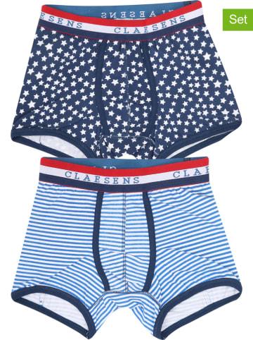Claesens 2-delige set: boxershorts blauw
