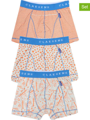 Claesens 3-delige set: boxershorts oranje