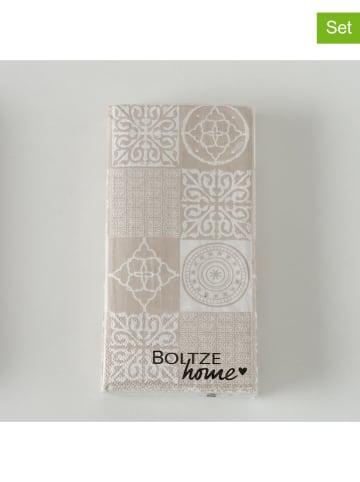 "Boltze 3-delige set: servetten ""Ibiza"" beige - 3x 12 stuks"