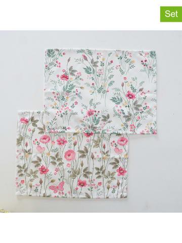 """Boltze 2-delige set: placemats """"Rosalie"""" groen/roze"""