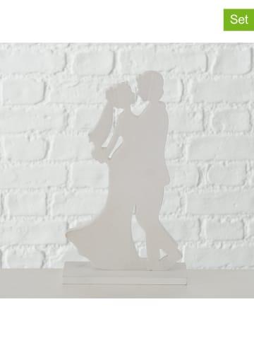"""Boltze Dekoracyjne figurki (2 szt.) """"Brautpaar"""" w kolorze białym - 19 x 26 cm"""