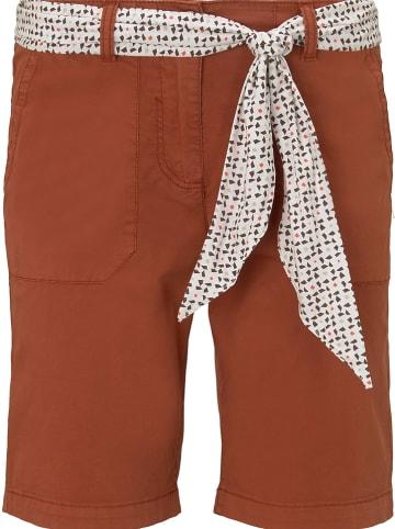 Tom Tailor Szorty w kolorze brązowym