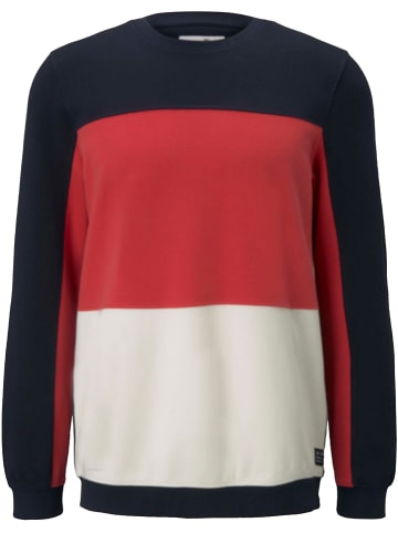 TOM TAILOR Denim Sweatshirt zwart/rood/wit