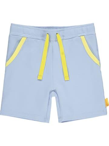 Steiff Szorty dresowe w kolorze błękitnym