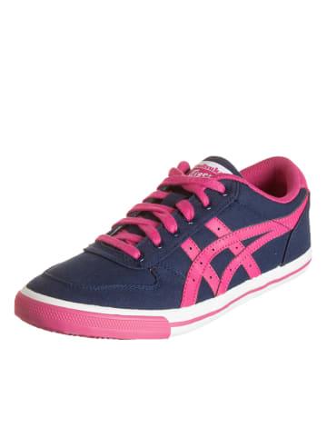 """Asics Sneakersy """"Aaron"""" w kolorze granatowo-różowym"""