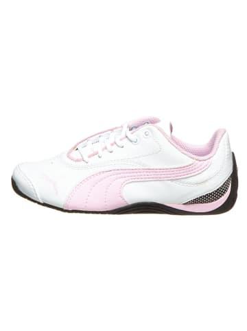 "Puma Leder-Sneakers ""Drift Cat III"" in Weiß/ Rosa"