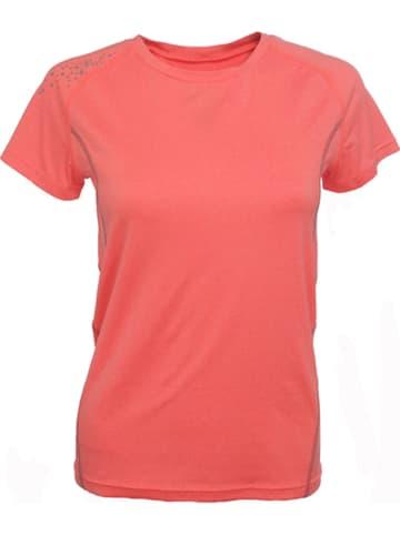 Peak Mountain Koszulka funkcyjna w kolorze koralowym