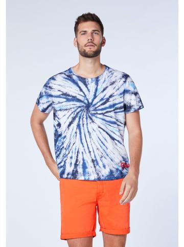 """Chiemsee Koszulka """"Nicobar"""" w kolorze granatowo-białym"""
