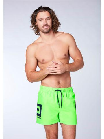 """Chiemsee Szorty kąpielowe """"Supertube"""" - Regular fit - w kolorze jaskrawozielonym"""